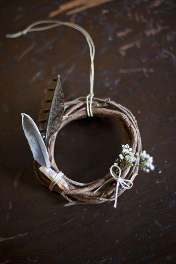 DIY Mini Wreaths! http://blog.freepeople.com/2012/12/diy-mini-wreaths-guest-post-catherine-rising/