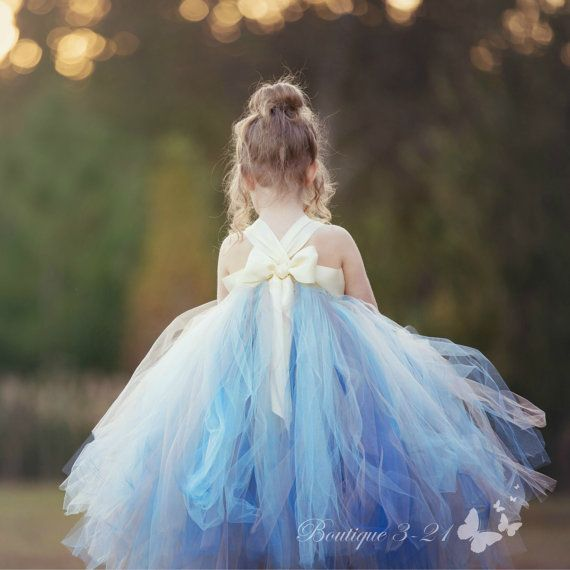 Dusty Blue Flower Girl Dress Dusty Blue Tutu Dress Dusty