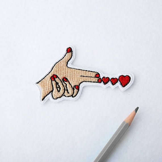 Hand patch Finger patch Weirdo Iron on Embroidered patch Patches for jackets Jacket patch Embroidery girly patch LGBT Iron on patch 033