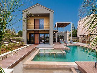 Villa di lusso con piscina privata riscaldata, 50 metri dalla spiaggia (MIGLIORE TARIFFA GARANTITA)    - Zografia Luxury 3 Bedroom Villa (Heated pool)
