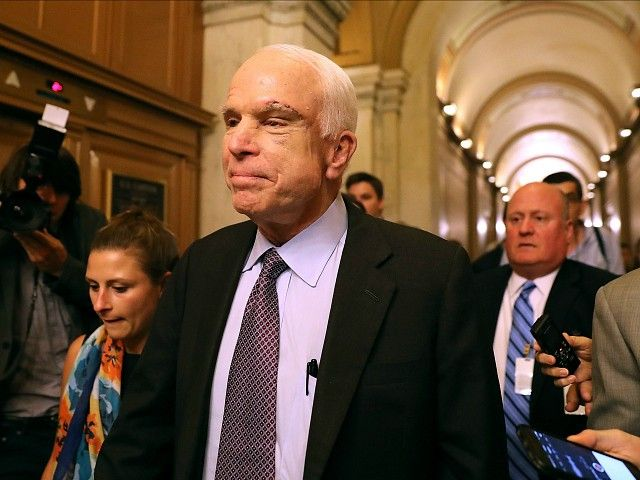 Sen. John McCain may find himself facing serious questions following the disclosure that the Hillary Clinton campaign and the Democratic National Committee helped fund research utilized in the infamous, largely discredited 35-page dossier on President Donald Trump.
