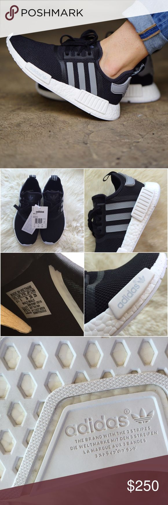 Adidas NMD R1 Monochrome Solar Red Shoes for sale in Johor