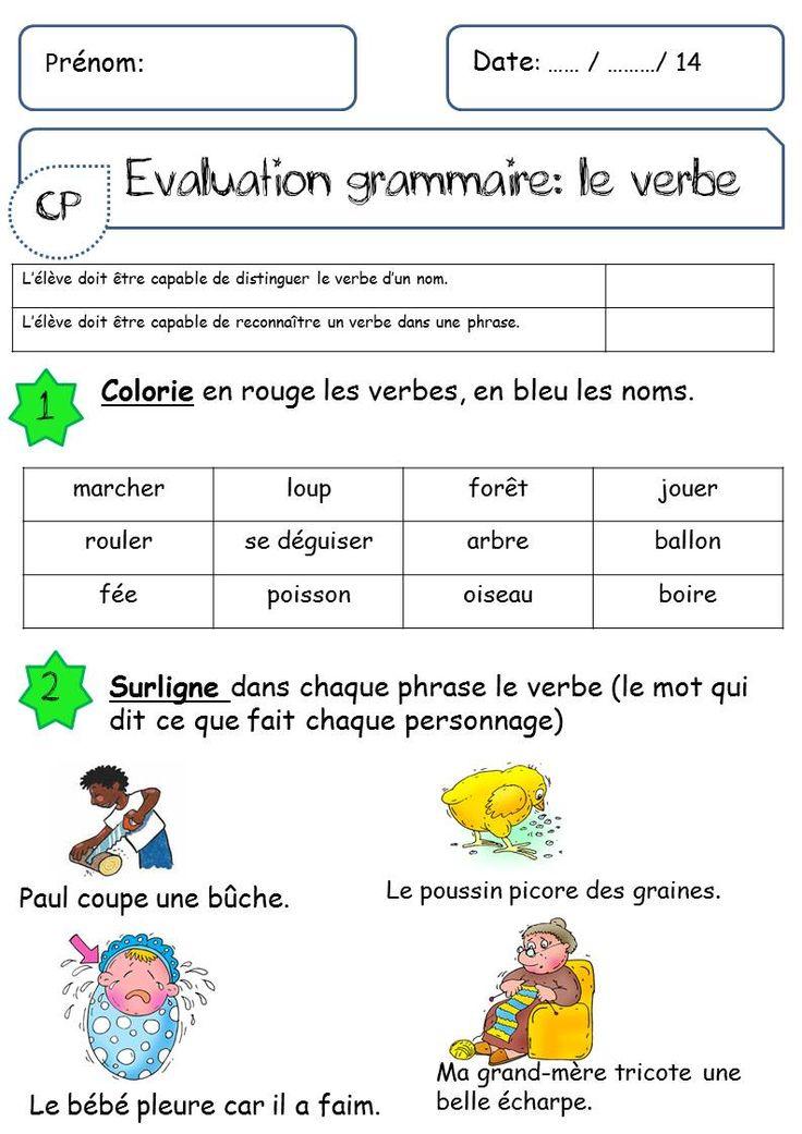 le verbe | Grammaire, Verbe, Lecture ce1