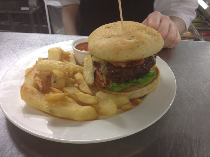 Brehon burger with smoked cheese and bacon