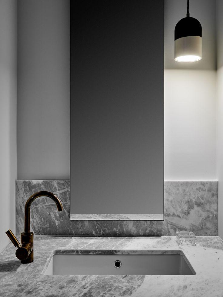 Stunning bathroom in a Hampton Penthouse | bocadolobo.com/ #luxurybathroom #luxurybathroomideas