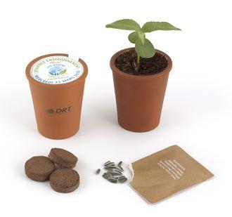 cadeaux affaires - kit plantation opercule publicitaire