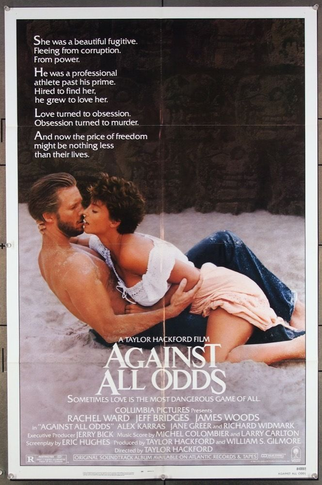 MovieArt Original Film Posters - AGAINST ALL ODDS (1984) 27102, $25.00 (https://www.movieart.com/against-all-odds-1984-27102/)