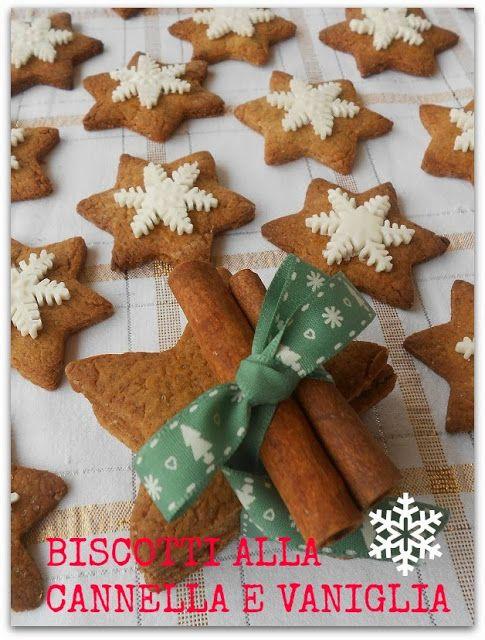 Biscotti 'stella' alla cannella e vaniglia