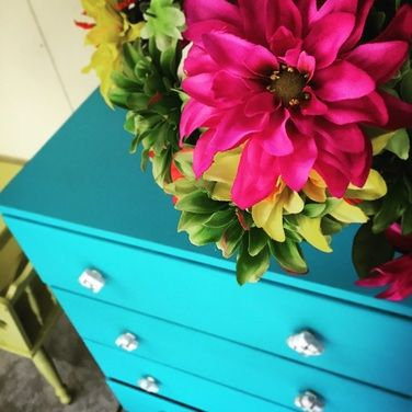 Turquoise set of drawers