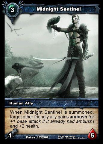 Shadow Era  trading card game. CARD BREAKDOWN: MIDNIGHT SENTINEL  on shadowera.net