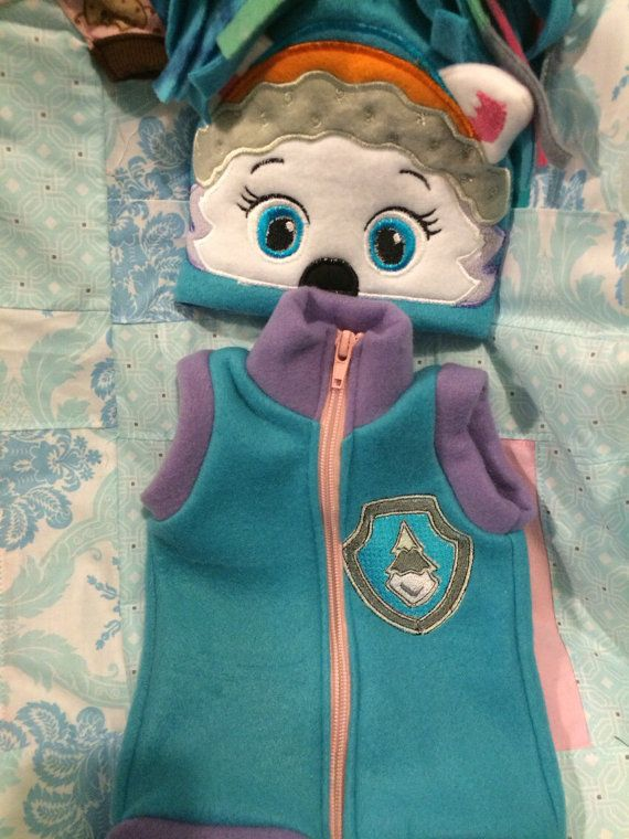 Paw patrol everest vest costume add mask by mothergoosedesigns