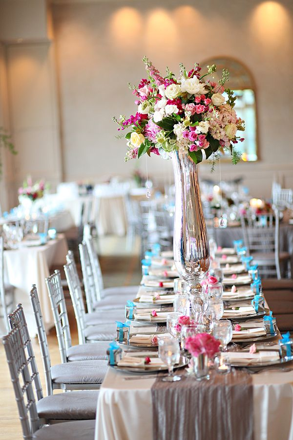 #pink and #turquoise reception