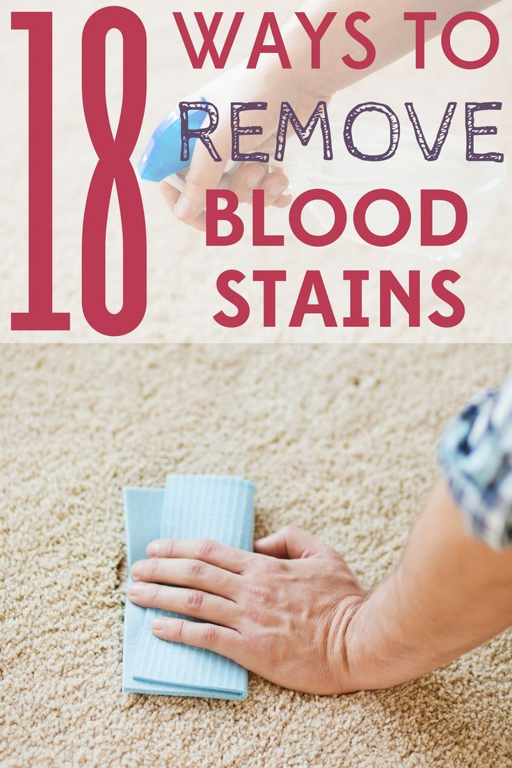 Got stubborn blood stains? These 18 tips to remove blood stains will have you stain-free in no time!