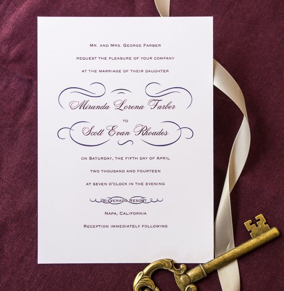 Champagne Swirls Wedding Invitations From Wine Country Occasions