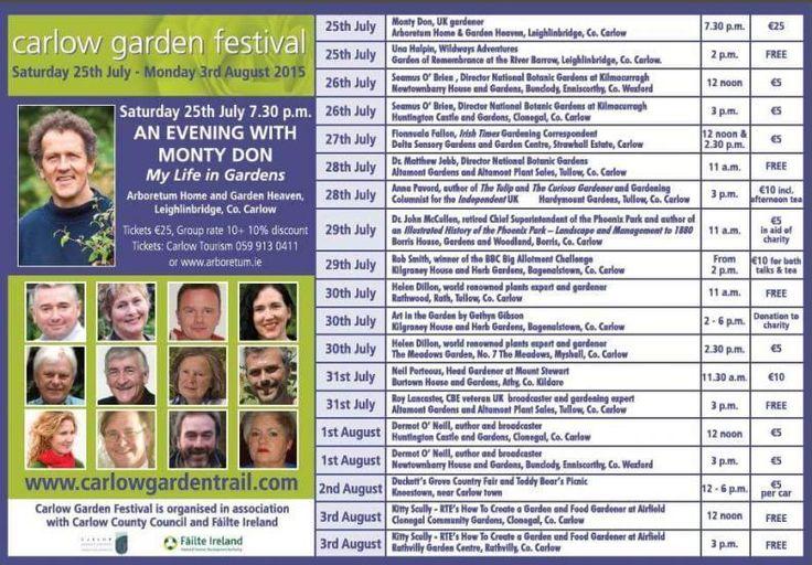 Carlow Garden Festival 2015 Monty Don! #CarlowGardenFest