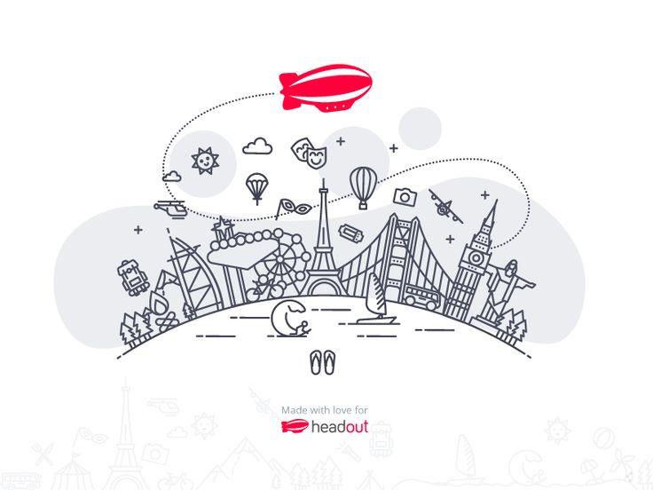 Illustration for Headout by Dalpat Prajapati
