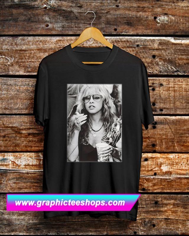 14b8e0dc2 Stevie Nicks Young Smoking T Shirt   T Shirt   Stevie nicks young ...