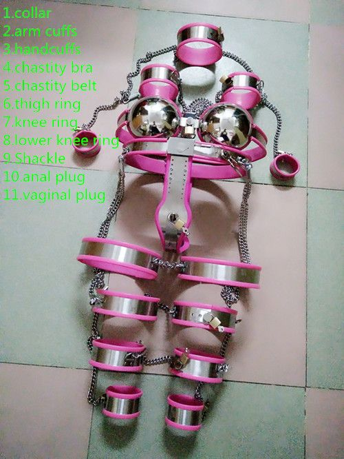 ==> [Free Shipping] Buy Best Sex shop new 11 pcs/set Stainless steel female chastity belt sex products bdsm bondage harness fetish sex slave game for women. Online with LOWEST Price | 32747082076