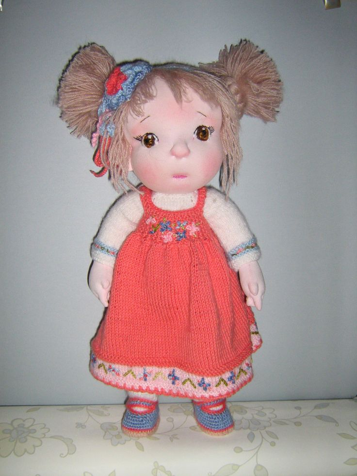 """is a. 15"""" OOAK soft sculpted cloth doll ."""