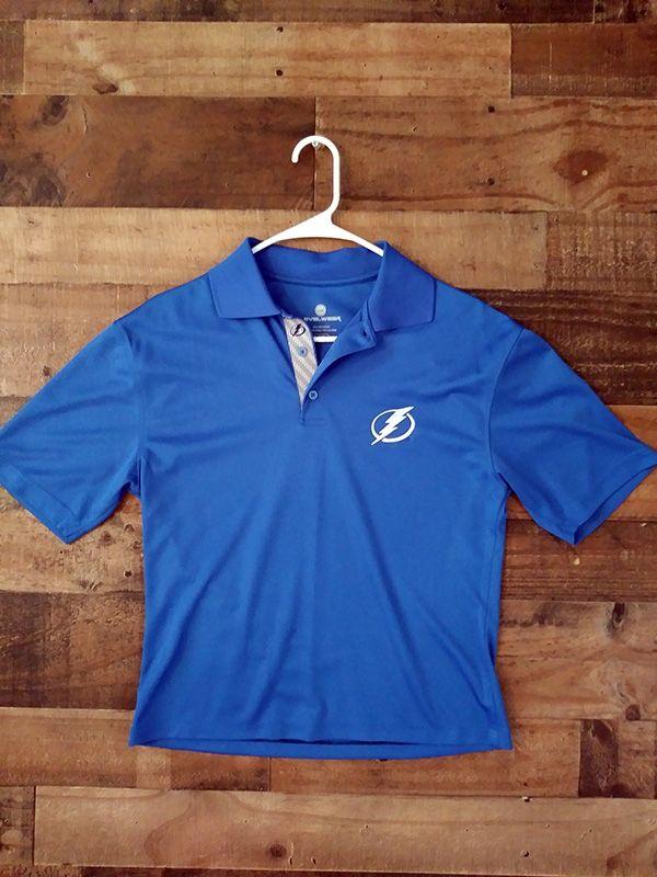 125fa28b NHL Hockey TAMPA BAY LIGHTNING Embroidered Collar Shirt   NHL ...