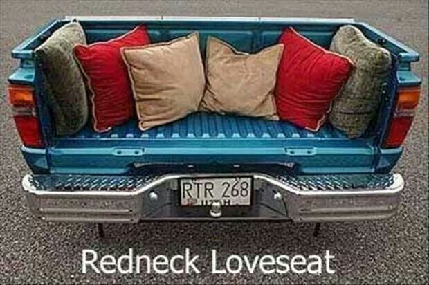 Redneck Love-what a great idea!