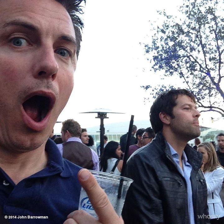 John Barrowman fanboying over Misha Collins. - Don't Hate The Geek