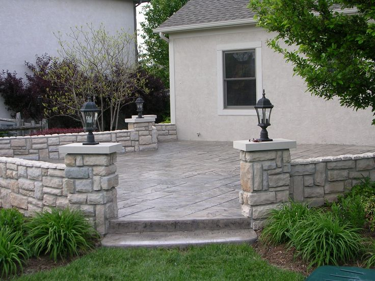 concrete patios pictures google search post on top of steps from garage area concrete patio designscement patiostamped - Stamped Concrete Patio Ideas