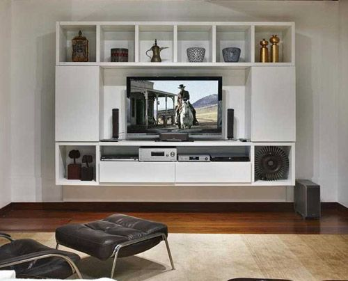 White Colour Tv Cabinet Design New Home Ideas