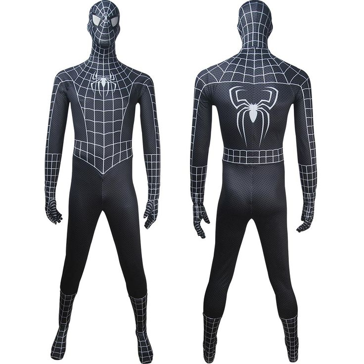 Adults Venom Spider-Man black costume superhero outfit halloween costume x'mas christmas gift toys comic-con make-up outfit fancy dress