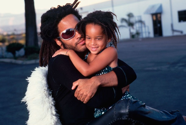 Lenny Kravitz holding Zoe in 1995. Happy Papa's Day!  Courtesy of: Neal Preston/Corbis