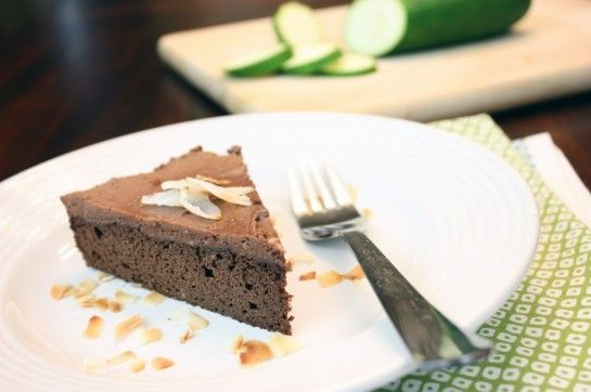 "Grain-Free Chocolate Zucchini Cake, but I'm swooning over the Dairy-Free Chocolate Coconut ""Buttercream"" Frosting Recipe!"