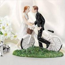 gratis verzending fiets bruid en bruidegom bruidstaart topper partij verjaardagstaart decoratie(China (Mainland))