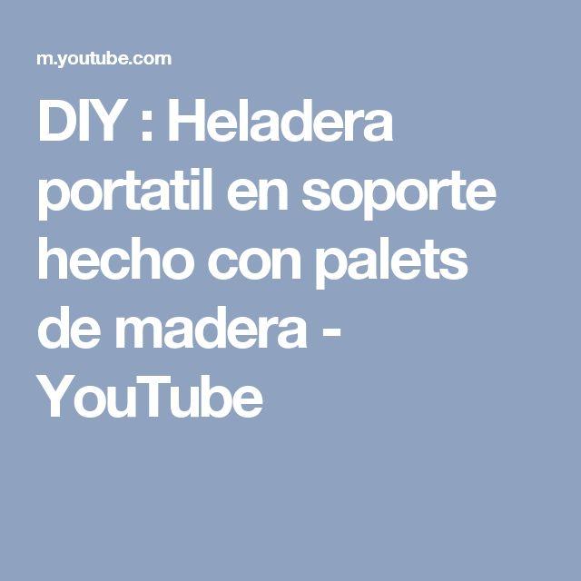DIY : Heladera portatil en soporte hecho con palets de madera - YouTube