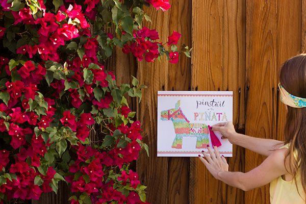 Pin the Tail on the Piñata Game (Free Printable!)