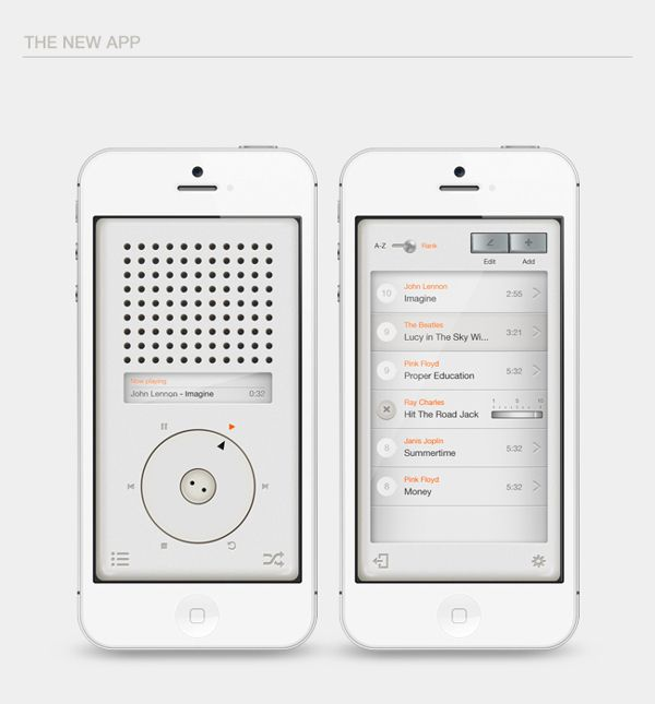 T3 Dieter Rams App Tribute by Eder Rengifo, via Behance