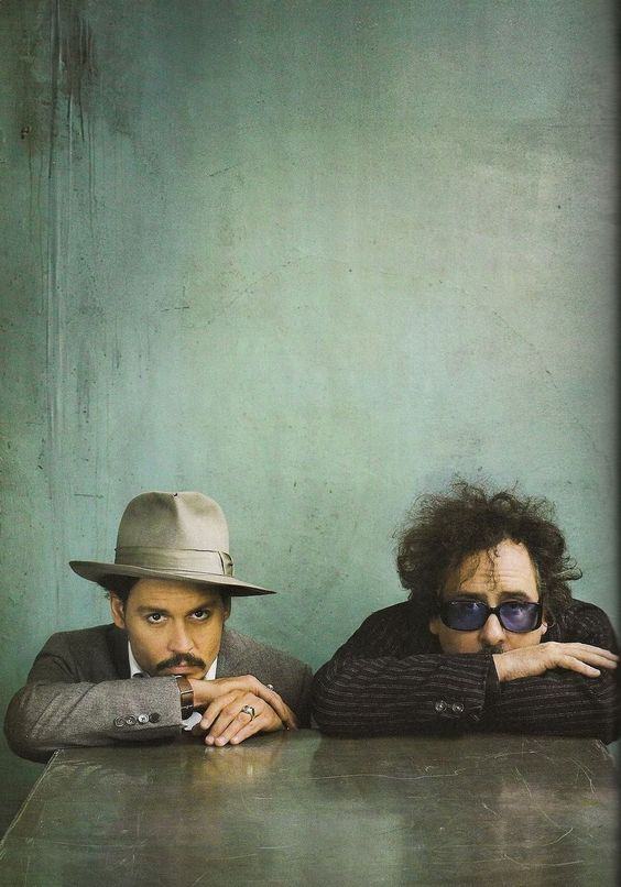 Johnny Depp and Tim Burton Beauty and the brain