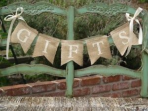 western bridal shower themes | Shower and Celebration ideas / Burlap Wedding Banner - Country/Rustic ...
