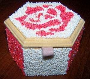 A great beaded jewelry box makeover project.