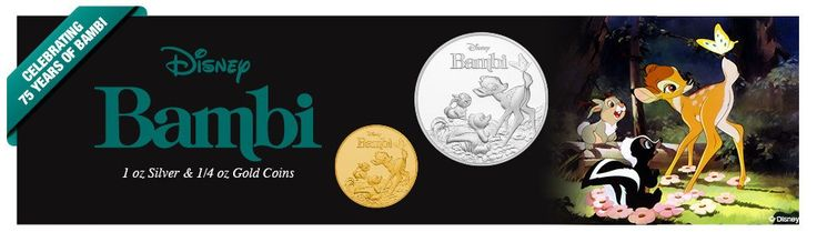 Bambi's 75th Anniversary Celebrated with Silver and Gold Coins