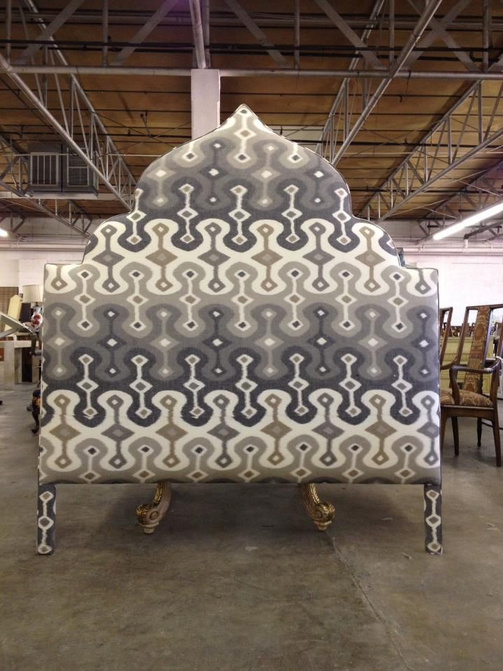 Custom Moroccan-style Upholstered Headboard by Again & Again