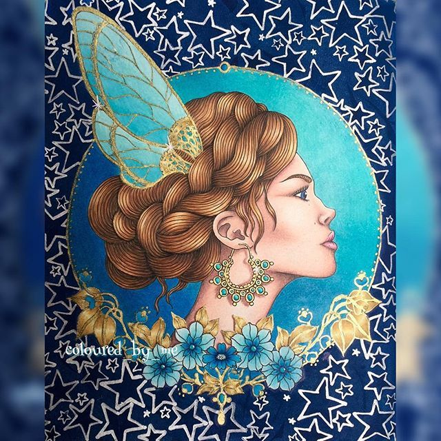 The Fairy Princess Dagdrömmar [No.4] Hanna Karlzon ✏️#FaberCastell Polychromos……