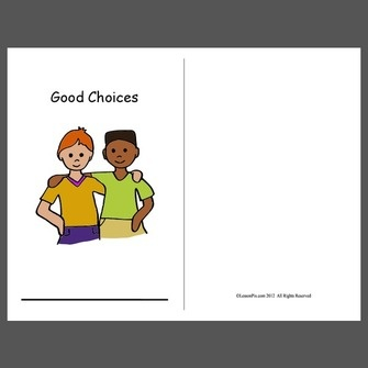 Social Story on making good choices to follow rules.
