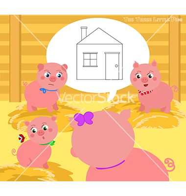 Three little pigs 2 vector