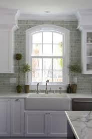 subway tile backsplash transitional kitchen benjamin green subway tile backsplash aabcf green subway tile backsplash
