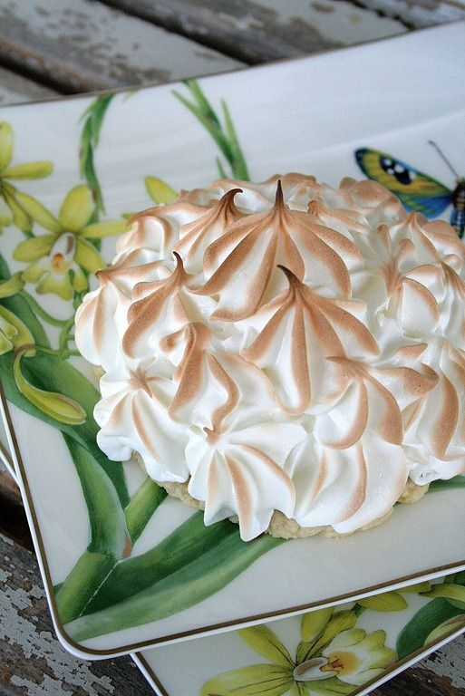 Freeform Lemon Meringue Tarts with Lavender Cardamom Crust recipe from @doughmesstic