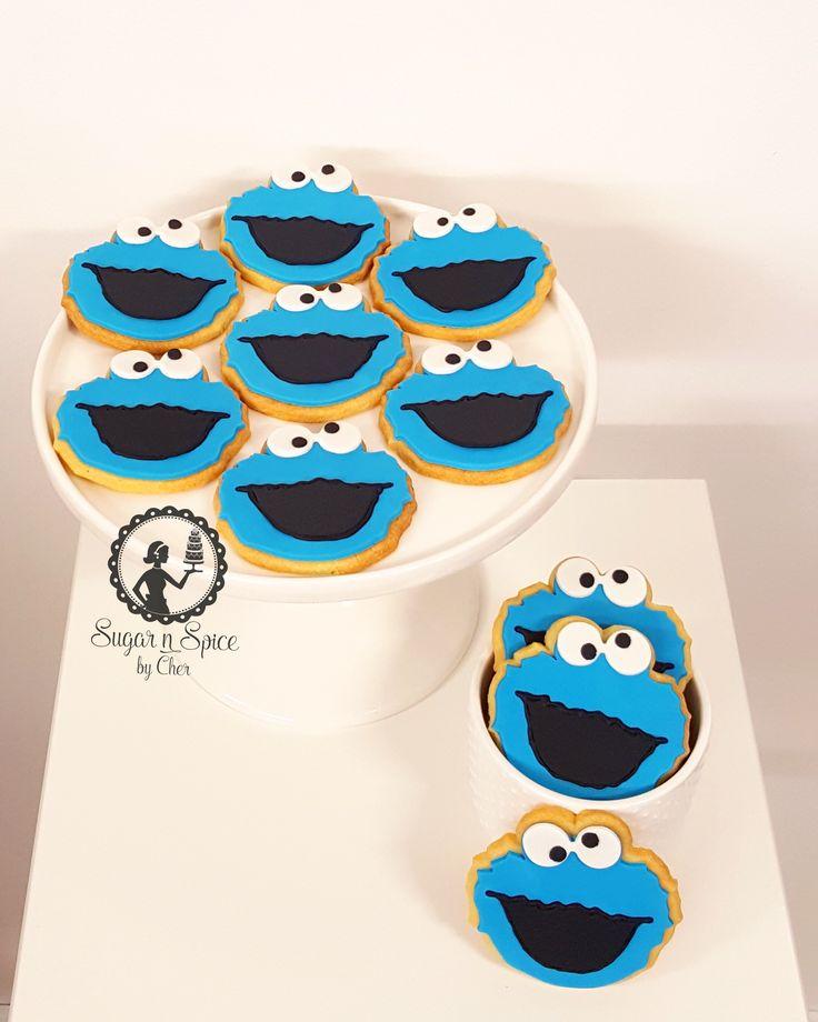 Cookie Monster (Sesame Street) Cookies #sugarnspicebycher