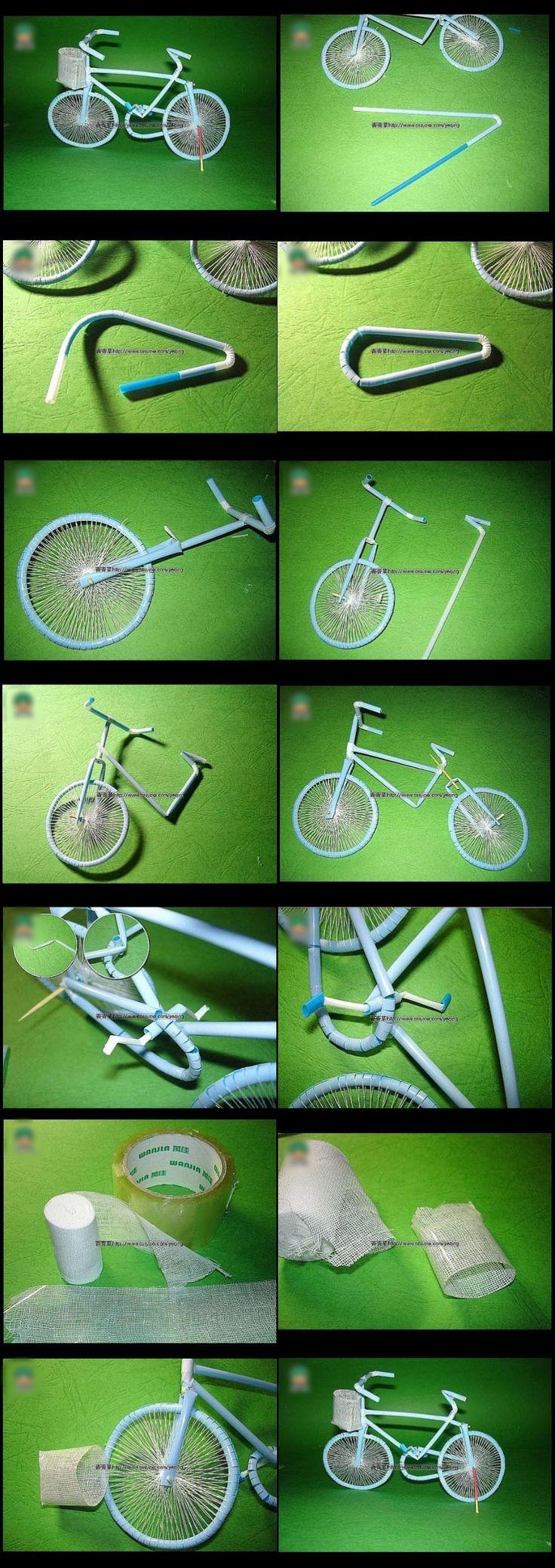 Cara Membuat Sepeda Dari Sedotan Plastik Bekas