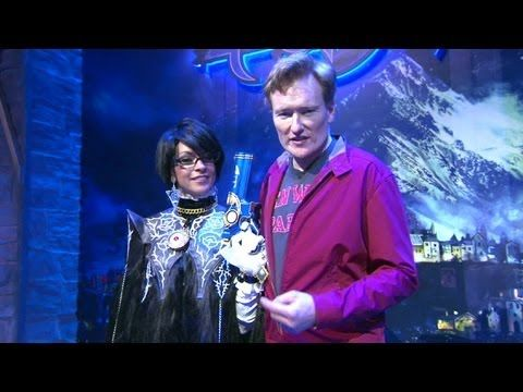 """Conan O'Brien visits E3 to check out PS4 and Xbox One. Hilarious [6.23.2013] [HD]"""