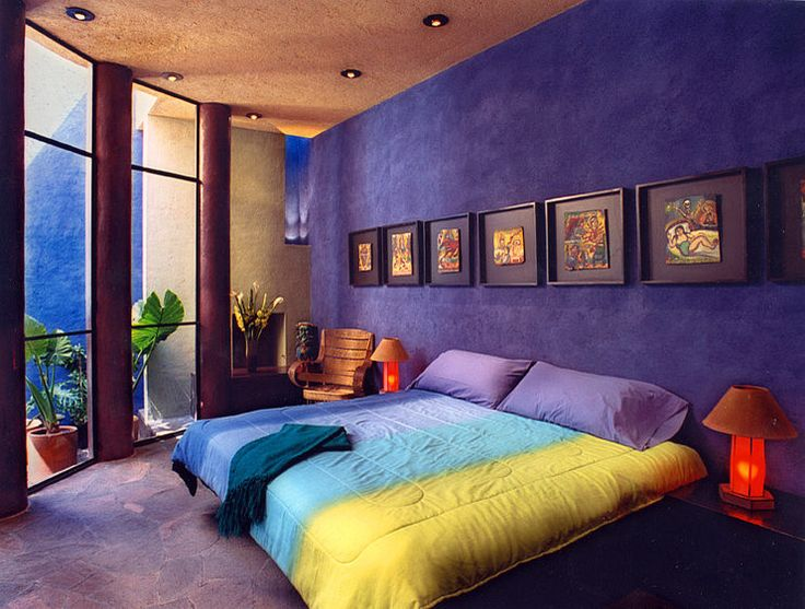 Sweet And Stylish Purple Bedroom Decor Idea With Unique Big Bed Next To  Chic Floor Lamp With Oriental Look: Exotic Ad Historic House Of Stars By  House House ...