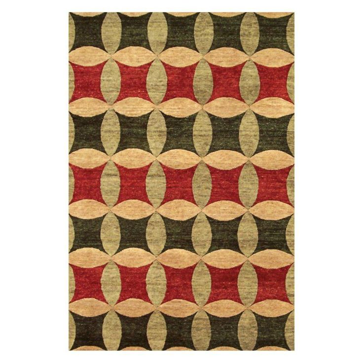Noble House Legacy Area Rug - Rust/Green/Gold - LEG15041014